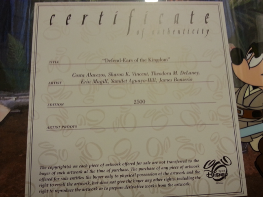 Defend-ears of the Kingdom Certificate of Authenticity
