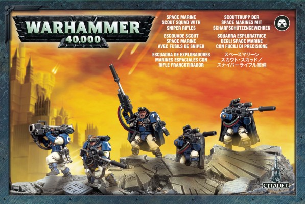 Space Marine Scouts with Sniper Rifles (NEW)