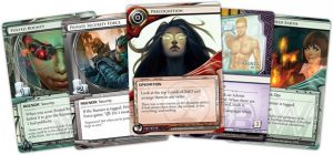 Android Netrunner the Card Game Core Set example cards