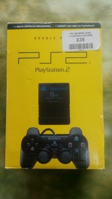 Official Sealed PS2 Controller / Memory Card