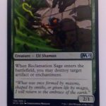 Reclamation Sage (M19) Magic the Gathering (MTG)