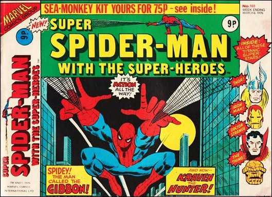 Super Spider-Man #160 March 1976 (Super Spider-Man with the Super-Heroes) Buy MARVEL Comics On-Line UK Comic Trader based Newcastle