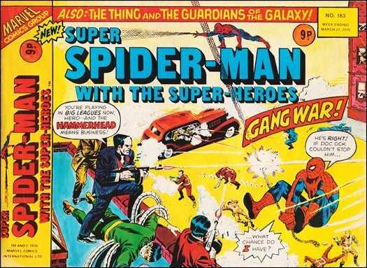 Super Spider-Man #163 March 1976 (Super Spider-Man with the Super-Heroes)  Buy MARVEL Comics On-Line UK Comic Trader based Newcastle