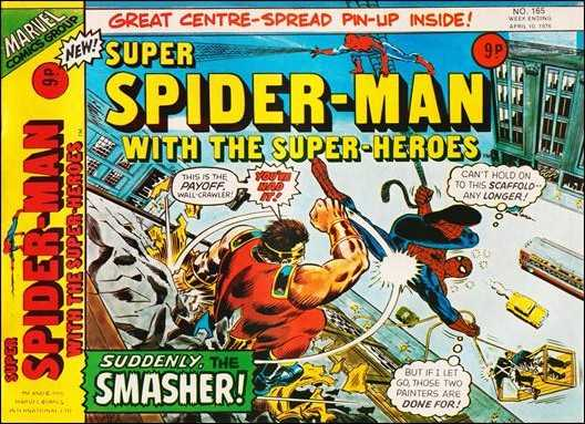 Super Spider-Man #165 March 1976 (Super Spider-Man with the Super-Heroes)     Buy MARVEL Comics On-Line UK Comic Trader based Newcastle