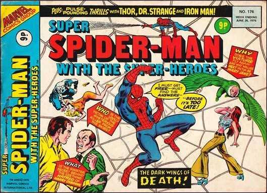 Super Spider-Man #176 June 1976 (Super Spider-Man with the Super-Heroes) Buy MARVEL Comics On-Line UK Comic Trader based Newcastle