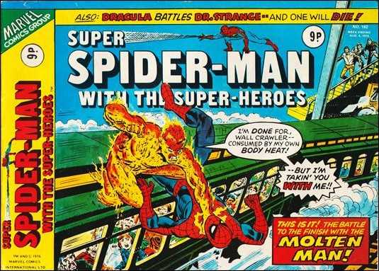 Super Spider-Man #182 August 1976 (Super Spider-Man with the Super-Heroes)  Buy MARVEL Comics On-Line UK Comic Trader based Newcastle
