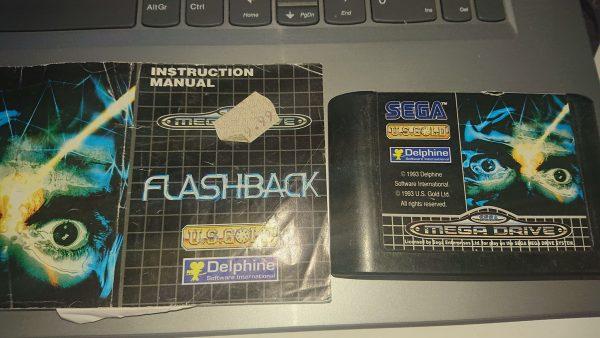 Flashback (Mega Drive) Cart and Manual