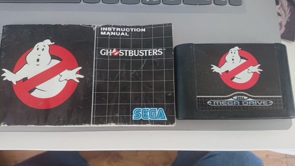 Ghostbusters (Mega Drive) Cart and Manual