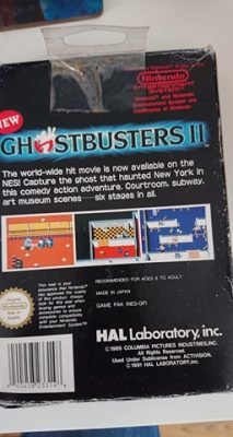 New Ghostbusters 2 (NES) Game + Box No Manual Back