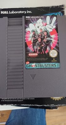 New Ghostbusters 2 (NES) Game + Box No Manual Cart