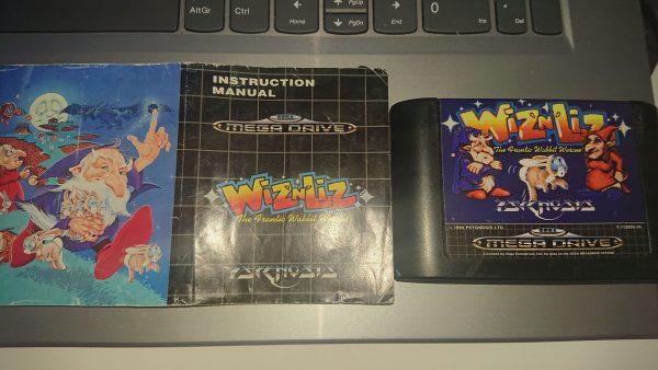 Wiz N Liz (Mega Drive) Cart and Manual