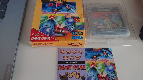 Woody Pop Japanese Import (Game Gear) Box Manual Cart
